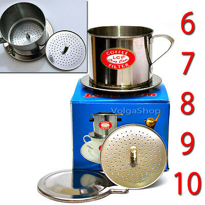 SCREW DOWN INSERT Vietnamese Coffee Filter - Size:6-7-8-9-10- Stainless Steel S1
