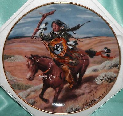 ~ Vintage ~ Signed American Indian Franklin Mint Plate ~ Collectable ~
