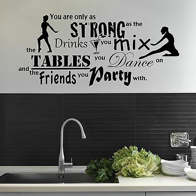 Family Friends Party Dance Wall Sticker Art Decal Mural Transfer Vinyl Wsd463