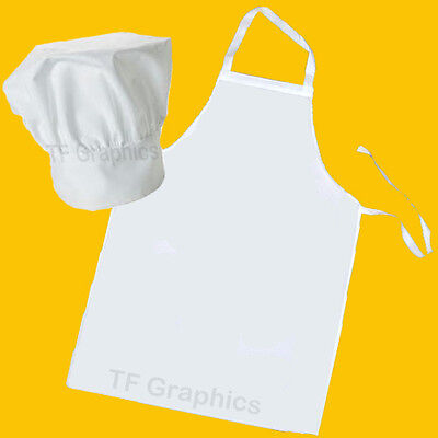 Design Your Own Childs White Personalised Chef Hat and Apron Set - Your Design