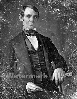Photograph of 16th US President Abraham Lincoln  37 yrs old Year 1846   8x10