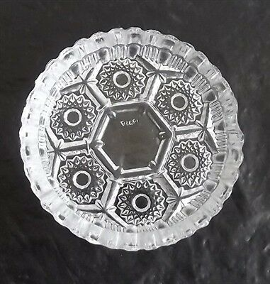 Vintage Clear Cut Pressed Glass Ashtray Made in Italy PRETTY