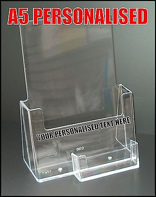 Personalised A5 Leaflet Holders And Business Card Holder Counter Brochure Holder