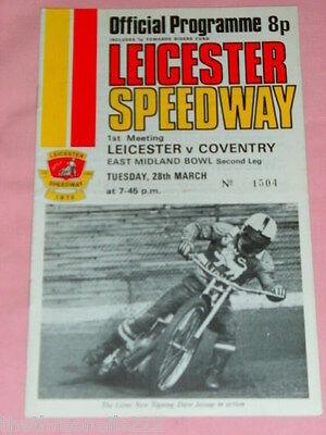 Speedway - Leicester V Coventry  - March 28 1972