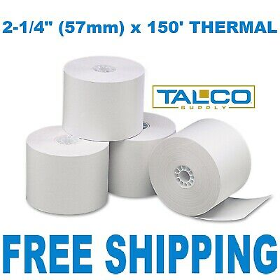 "2-1/4"" x 150' THERMAL PoS RECEIPT PAPER - 100 NEW ROLLS  ** FREE SHIPPING **"