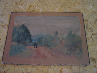 Vintage Antique Early 20th Century E A Trego Signed Watercolor Landscape