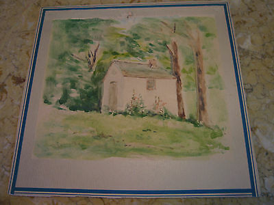 Vintage Antique Early 20th Cent. E A Trego Watercolor Painting & Pastel of House