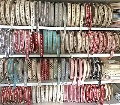 East Of India Vintage Ribbon Many Designs 99P Per Meter    (28P P&p)