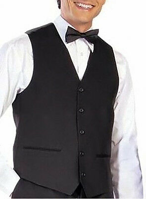 Mens Black Formal Waistcoat S,m,l,xl,xxl,3Xl,4Xl,5Xl Rrp £24.99