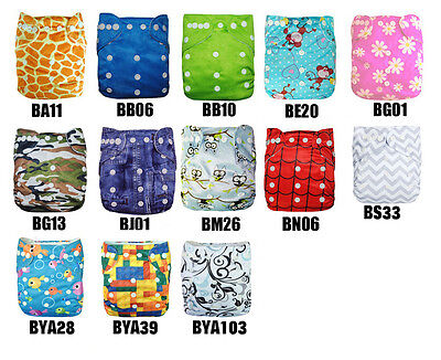 U Pick ALVABABY Healthy Washable Reuseable Bamboo Pocket Diapers Cloth Nappy