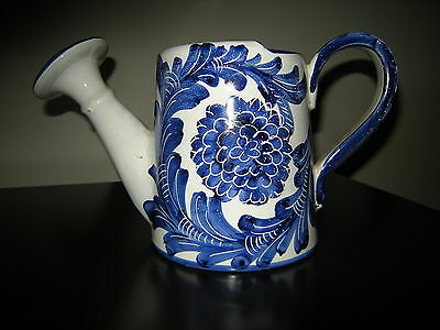 JAY WILLFRED CERAMIC WATERING CAN* HAND PAINTED- SIGNED- NUMBERED- MADE IN ITALY