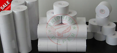 44mm x 150' BOND CASH REGISTER PAPER - 20 NEW ROLLS  ** FREE SHIPPING **