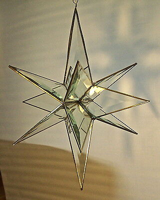 Assorted christmas moravian beveled stained glass star suncatcher ornament