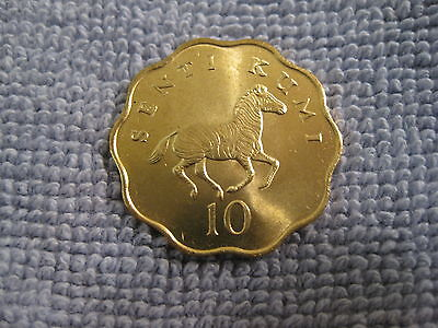 "1984 Tanzania coin, 10 Senti,  "" ZEBRA ""   unc Beauty,  animal coin  Sweet!!"