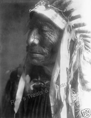 Photograph Vintage American Sioux Indian - Fast Elk 1907   8x10