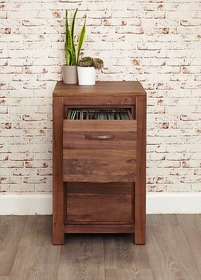 Mayan solid walnut furniture 2 drawer filing cabinet storage home office