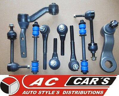 Aftermarket front suspension steering kit tie rods stabilizer link replacements