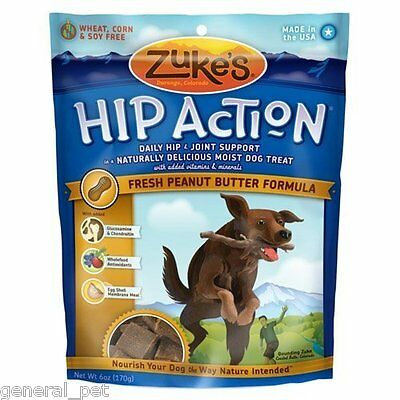 Zuke's Hip Action Peanut Butter Dog Treats 6oz