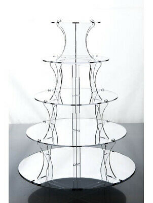 5 Tier Mirrored Cupcake Stand Wedding Cup Cake & Party Celebration