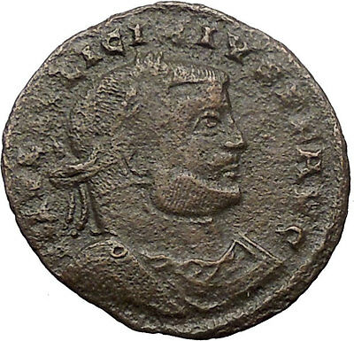 Licinius I Constantine I enemy 313AD Roman Coin Nude Jupiter w eagle