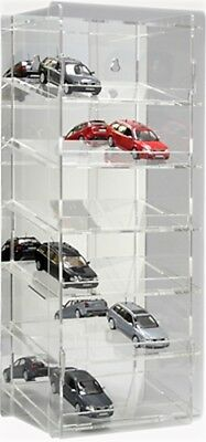 SORA Model Car Display Tower 1/43; Back-Panel: Reflective, For up to 18 Cars