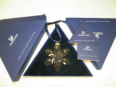 Swarovski Crystal Annual Snowflake Ornament With Box 2008 Austria With Paperwork