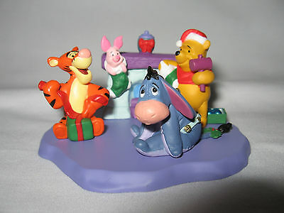 "HALLMARK merry miniatures  ""CHRISTMAS AT POOH'S HOUSE"" complete set of four"