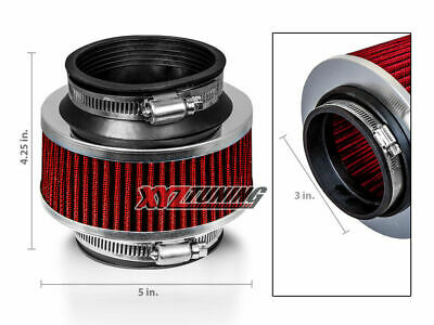 "3/"" Inches 76mm Universal ByPass Valve RED Filter For Pontiac Cold Air Intake"
