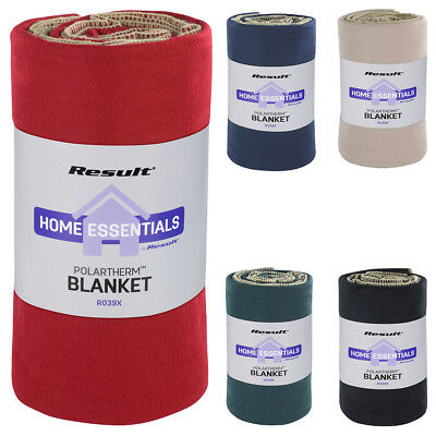 New RESULT Winter Warm Soft Active Fleece Blanket in 4 Colours One Size