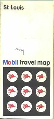 1973 Mobil St. Louis  Vintage Road Map