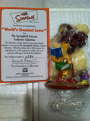 Simpsons Hamilton Sculpture Worlds Greatest Lover Limited Edition Figure Brn New