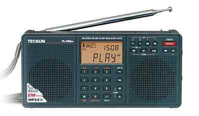 TECSUN PL-398MP PLL DSP Radio with MP3 & Dual Speaker Function **FREE GIFT**