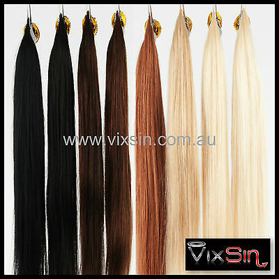 "24"" MICRO BEAD I TIP HUMAN HAIR EXTENSIONS 1g Strands + FREE SILICON MICRO BEADS"