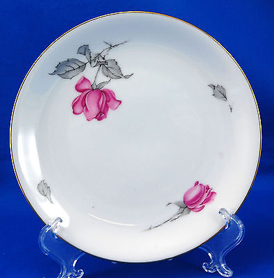 KPM 675 Bread and Butter Plate 5.875 in. Red Roses Gold Trim RKPM Krister 675 22