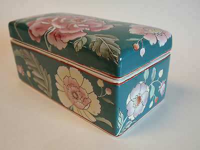 Hand Painted Classic Traditions JC Penney Chinese Porcelain Lidded Box Floral