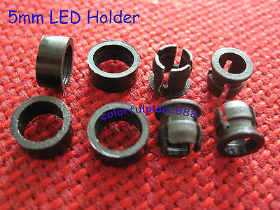 100 sets, 5mm Plastic ABS LED Bezel Holder Holders Panel Display with Ring New