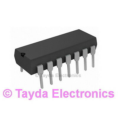 5x CD4093BE IC digital NAND Channels4 Inputs2 CMOS DIP14 TEXAS INSTRUMENTS