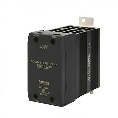 SSR Solid State Relay with Heatsink DIN rail 4-30VDC Input 30A 24-240VAC load