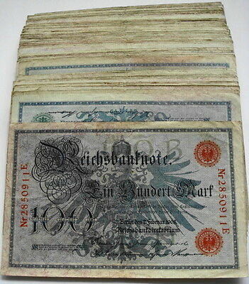 GERMANY REICHSBANKNOTE 100 MARK 1908/sold as each