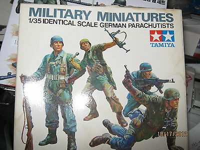 Tamiya WWII German Army Parachutists Figures -1/35 Scale-FREE SHIPPING