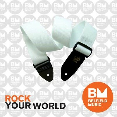 Ernie Ball 4036 Polypro Guitar Strap Super Long White Adjustable