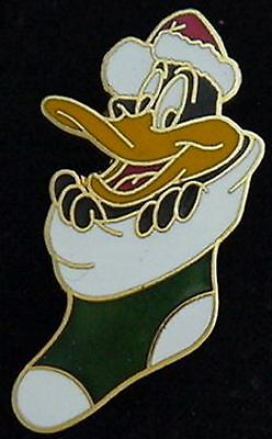 Daffy Duck Pin~ Looney Tunes~'89 vintage~Christmas stocking~by Pinnacle Designs
