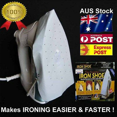 NEW Iron shoe heat protector & ironing cover - stop burn, scorch & shine marks