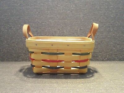 Longaberger Woven Traditions Tea Basket and Protector -MINT never used!