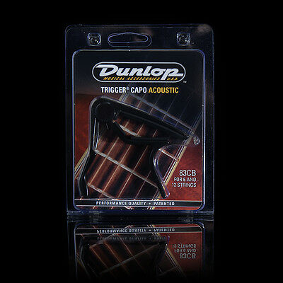 Dunlop Trigger Capo Acoustic  - 83Cb For 6 And 12 Strings - Black Rrp $36