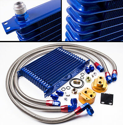 Renault 5 Turbo 19 Clio 16V Megane 10 Row An10 Blue Oil Cooler & Relocation Kit