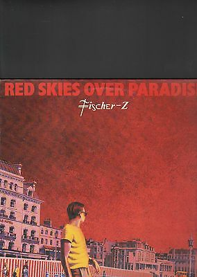 FISCHER Z - red skies over paradise LP