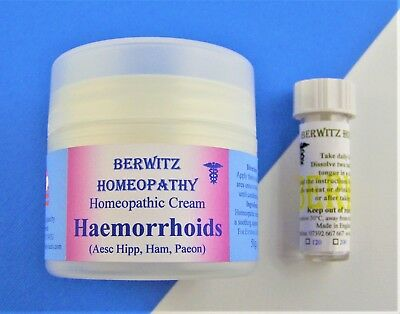 Homeopathy Haemorrhoids / Hemorrhoids Natural Soothing Piles Cream & Remedy Kit