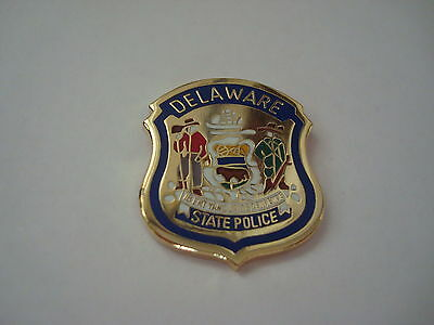DELAWARE State  Police mini patch HAT PIN