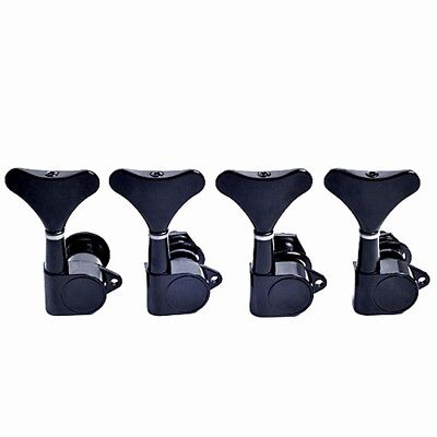 Black Set  Of 4 Right Sealed Bass Tuner Peg 4 String Bass Tuning Machine Heads